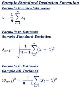 Sample Standard Deviation Formula